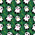 Cute pandas seamless pattern Royalty Free Stock Image