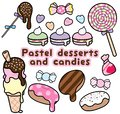 Cute Pastel Colored Desserts and Candies