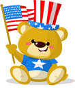 Cute patriotic bear Royalty Free Stock Images