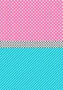 Cute pattern background in lol doll surprise style. vector illustration Royalty Free Stock Photo