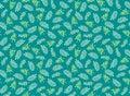 Cute pattern with leaf.