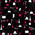 Cute pattern vector illustration paris Royalty Free Stock Photography