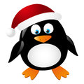 Cute penguin Santa Royalty Free Stock Images