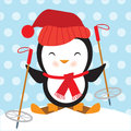 Cute penguin vector illustration Royalty Free Stock Photo