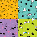 Cute pets patterns Stock Images