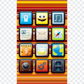 Cute Phone Interface Royalty Free Stock Images