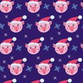 Cute pig seamless pattern. Symbol of the year in the Chinese calendar.