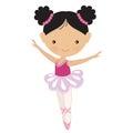 Cute pink ballerina vector illustration Royalty Free Stock Photo
