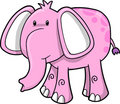 Cute Pink Elephant Royalty Free Stock Photo