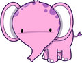 Cute Pink Elephant Royalty Free Stock Photos