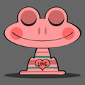 Cute pink frog Stock Image