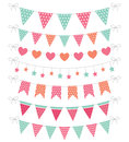 Cute pink and mint bunting