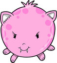 Cute Pink Monster Vector Royalty Free Stock Photo