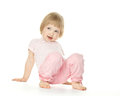 Cute playful baby girl Stock Image