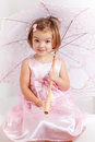 Cute playful little princess Royalty Free Stock Photo