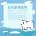 Cute polar bear frame design and border Stock Image