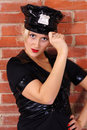Cute police woman Royalty Free Stock Images