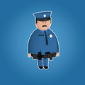 Cute policeman  character Stock Images