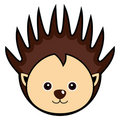 Cute Porcupine Vector Stock Photo