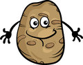 Cute potato vegetable cartoon illustration of funny comic food character Stock Photo