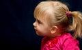 Cute preschool blond girl Royalty Free Stock Photo