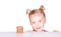 Cute preschooler with chocolate chip cookies Stock Image