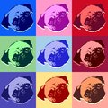 Pug Puppy Dog PopArt Vector