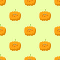 Cute pumpkin cartoon seamless pattern