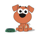 Cute Puppy Cartoon Royalty Free Stock Images