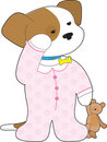 Cute Puppy Pajamas Royalty Free Stock Images