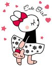 Cute rabbit for baby girl design