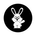Cute rabbit character icon
