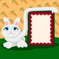 Cute rabbit with message board Royalty Free Stock Photo