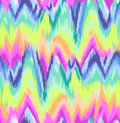 Cute rainbow ikat chevron print young and colorful seamless background Stock Photography