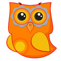 Cute red owl cartoon character Royalty Free Stock Image