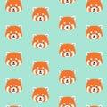 Cute red panda pattern.