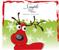 Cute Red Reindeer! Stock Image