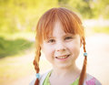 Cute redhead little girl Royalty Free Stock Photo
