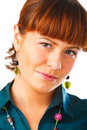 Cute Redhead woman portrait Stock Photo