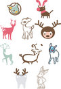 Cute Reindeers Stock Image