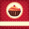 Cute retro cupcake Stock Photography