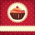 Cute retro cupcake Royalty Free Stock Photo