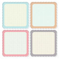 Cute Retro Framed Icon Set Royalty Free Stock Photo