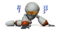 Cute robot is trembling in despair d illustration Royalty Free Stock Photography