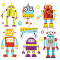 Cute Robots Royalty Free Stock Photo