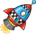 Cute Rocket Vector Illustration Royalty Free Stock Image