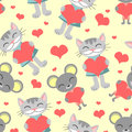 Cute romantic seamless pattern Stock Image
