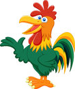 Cute rooster cartoon presenting illustration of Royalty Free Stock Images