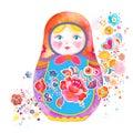 Cute Russian Doll Illustration