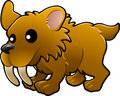Cute sabre tooth tiger illustr Stock Images